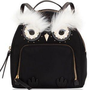 Kate spade Star bright owl black nylon backpack